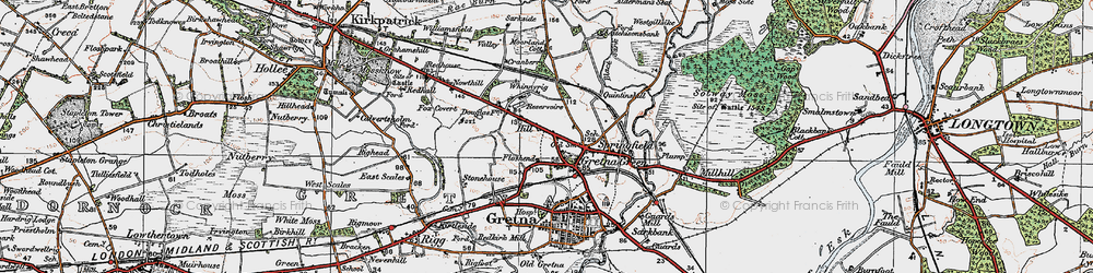 Old map of Gretna Green in 1925