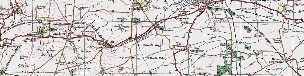 Old map of Wilsford Warren in 1922