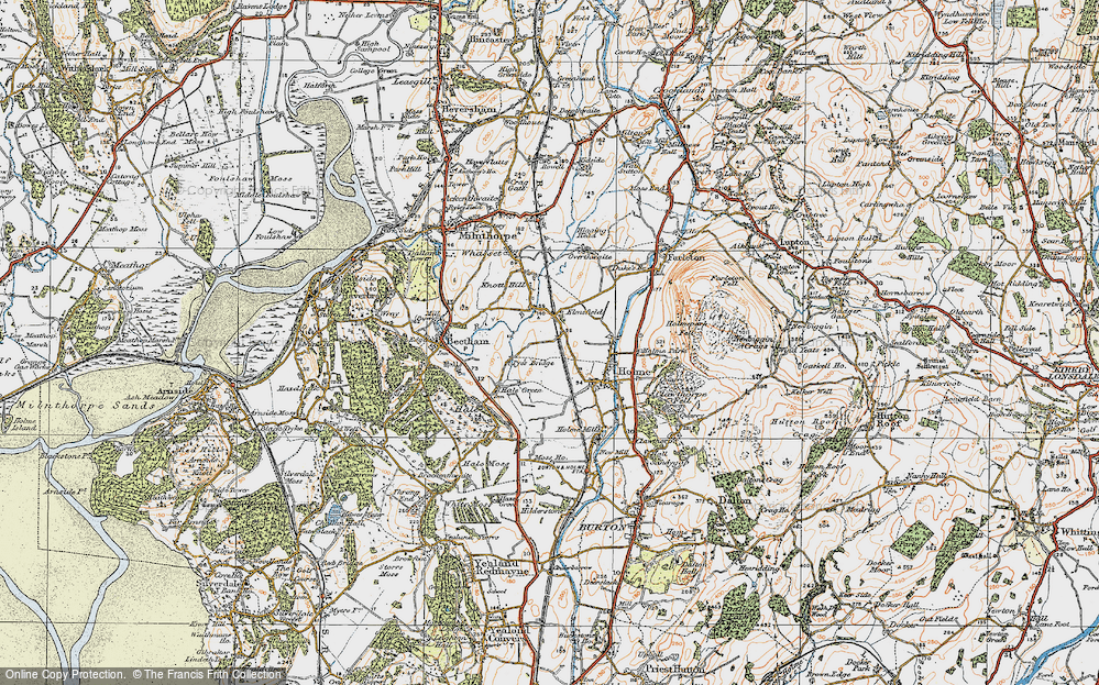 Old Map of Historic Map covering Limestone Link in 1925