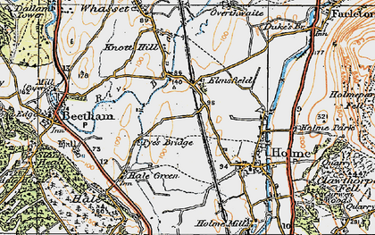 Old map of Limestone Link in 1925