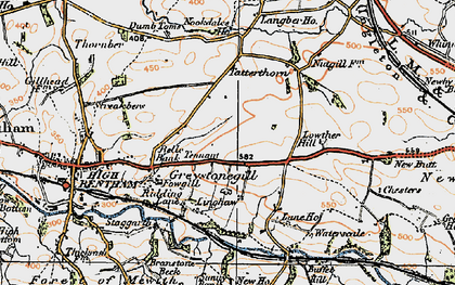Old map of Langber in 1924