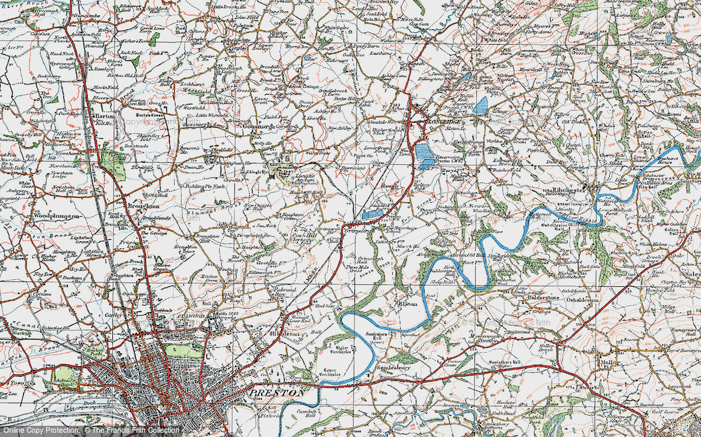 Old Map of Historic Map covering Alston Wood in 1924