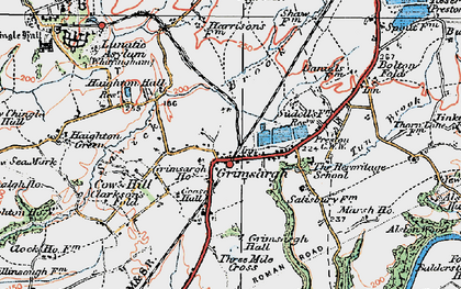 Old map of Alston Hall in 1924