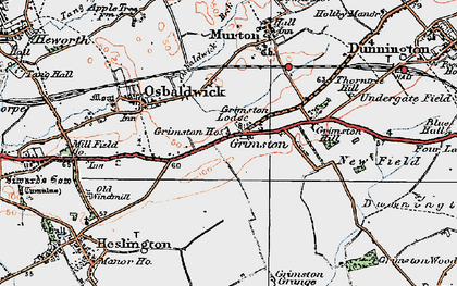 Old map of Langwith Lodge in 1924