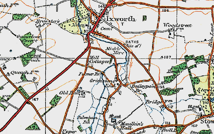 Old map of Baileypool Br in 1920