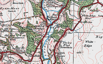 Old map of Grindleford in 1923