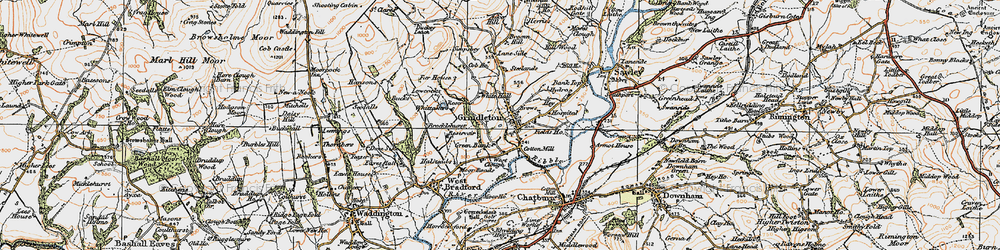Old map of White Hall in 1924