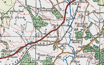 Old map of Leese Hill in 1921