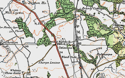 Old map of Woodend in 1925