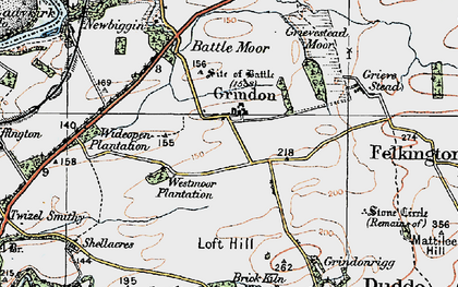 Old map of Toft Hill in 1926