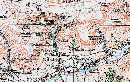Old map of Wicken, The in 1923