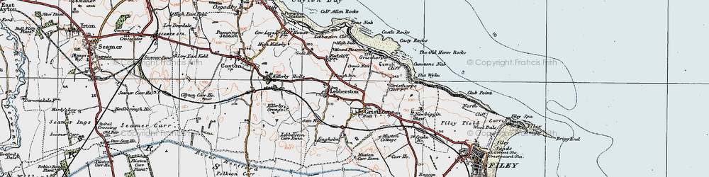 Old map of Gristhorpe in 1925