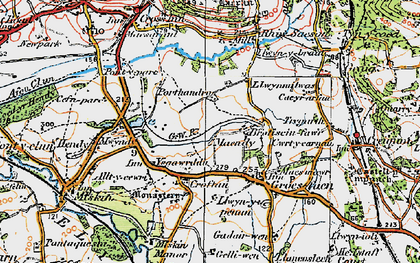 Old map of Groes-faen in 1922
