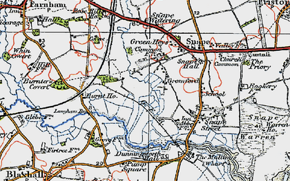 Old map of Langham Br in 1921