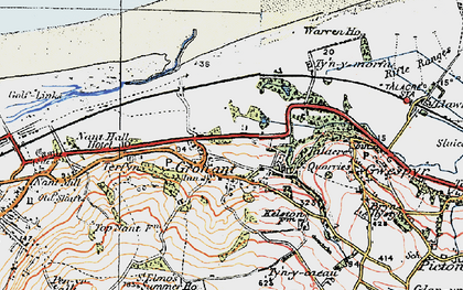 Old map of Gronant in 1922