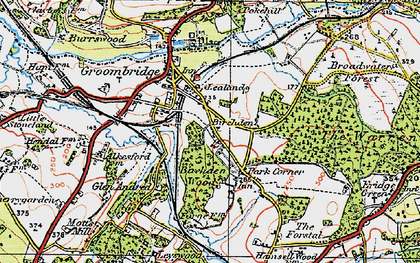 Old map of Lealands in 1920