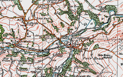 Old map of Grosmont in 1925