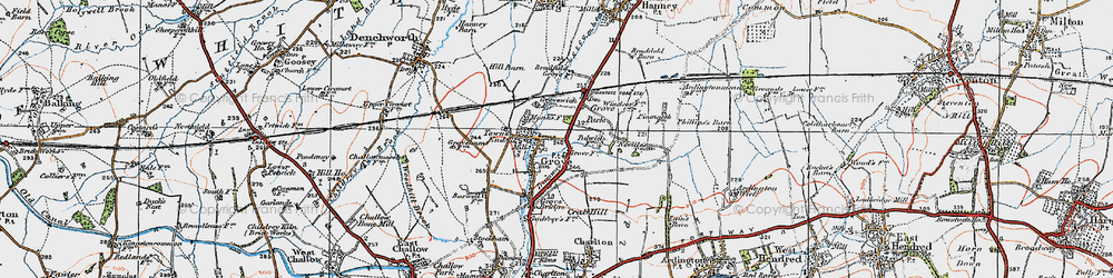 Old map of Grove in 1919