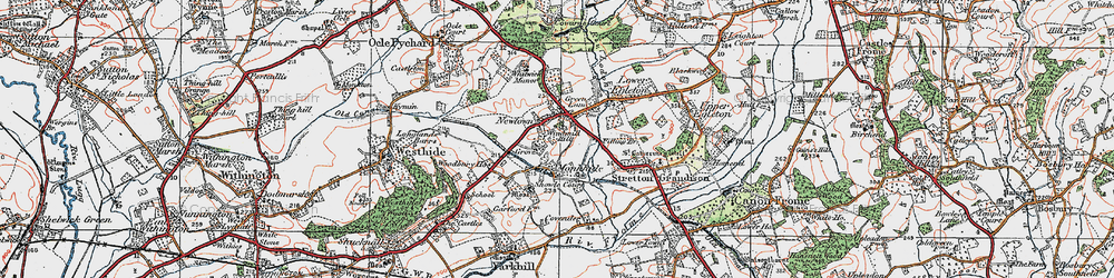 Old map of Windmill Hill in 1920