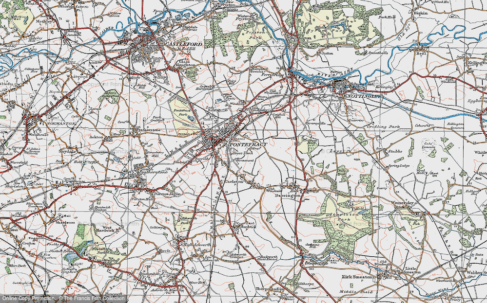 Old Map of Historic Map covering Baghill Sta in 1925