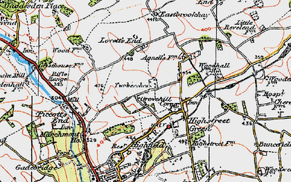 Old map of Grovehill in 1920
