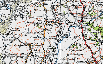 Old map of Grovesend in 1923