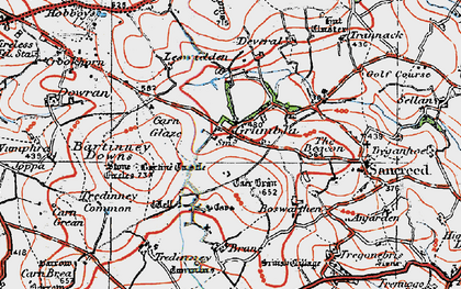 Old map of Grumbla in 1919