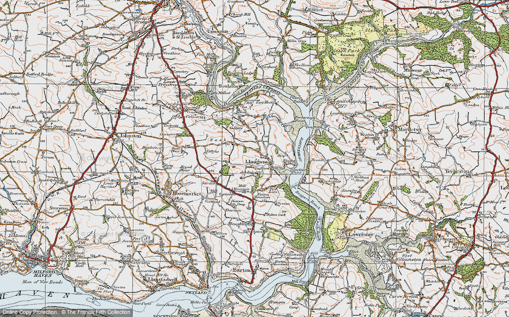 Old Map of Historic Map covering Ashdale in 1922