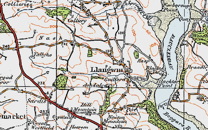 Old map of Ashdale in 1922