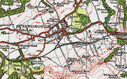 Old map of Guisborough in 1925