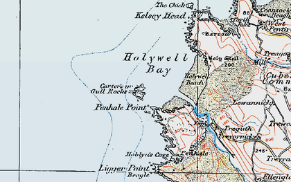 Old map of Gull in 1919