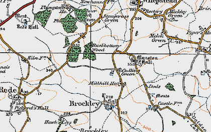 Old map of Woolmer Wood in 1921