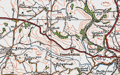 Old map of Astridge in 1922