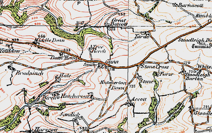 Old map of Whitsford in 1919