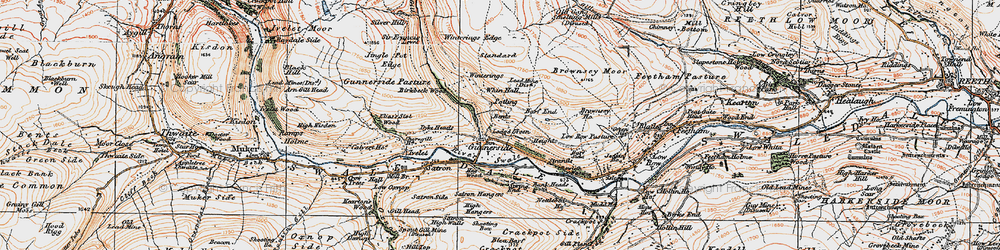 Old map of Whin Hall in 1925