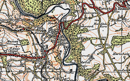 Old map of Gunnislake in 1919