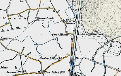 Old map of Leamlands in 1922