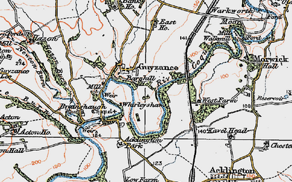 Old map of Whirleyshaws in 1925