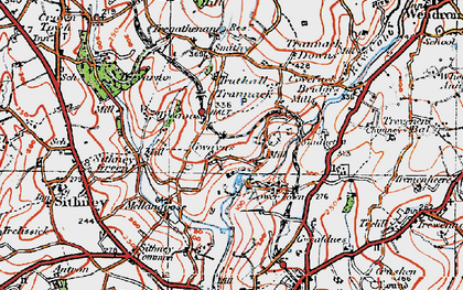 Old map of Gwavas in 1919