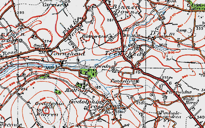 Old map of Gwedna in 1919