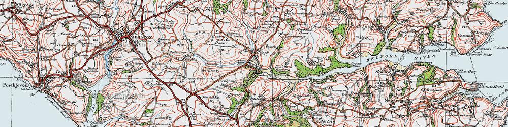 Old map of Tolvan Cross in 1919