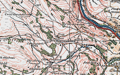 Old map of Wye Valley Walk in 1923