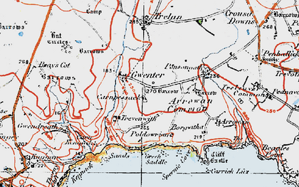 Old map of Gwenter in 1919