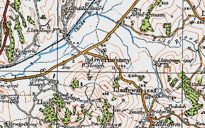 Old map of Allt-y-bela in 1919