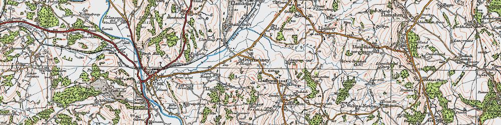 Old map of Allt-y-bela in 1919
