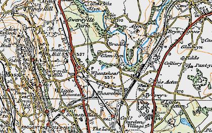 Old map of Gwersyllt in 1921