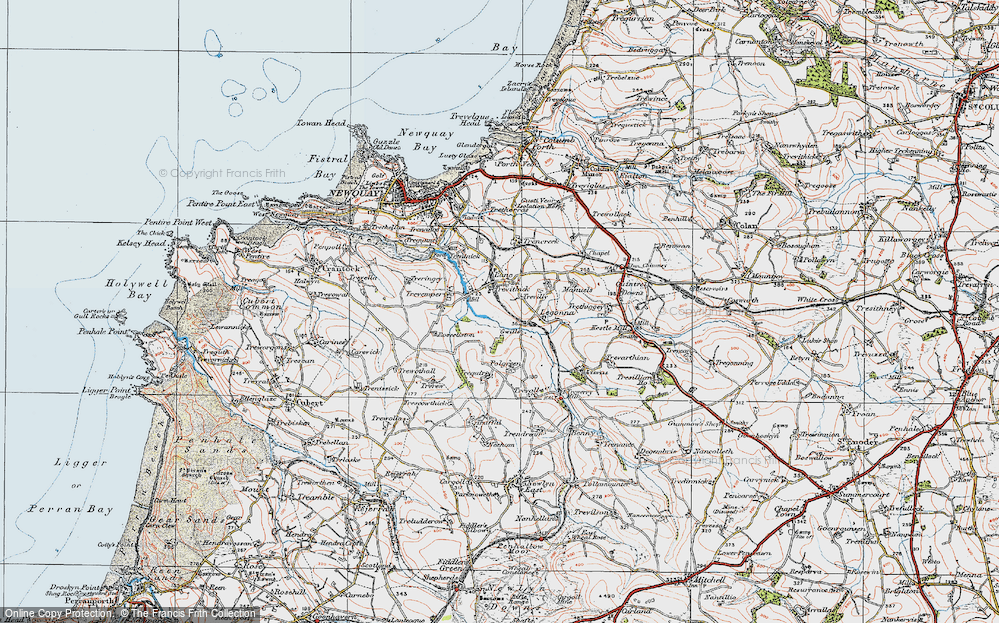 Old Map of Historic Map covering Legonna in 1919