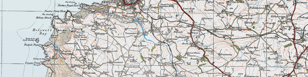 Old map of Legonna in 1919