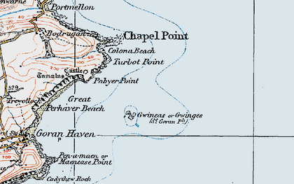 Old map of Gwinges in 1919