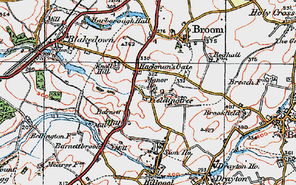 Old map of Yieldingtree in 1921